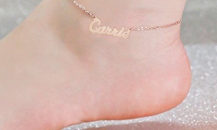 One or Two Name Anklets from NameJewelrySpot (Up to 81% Off)