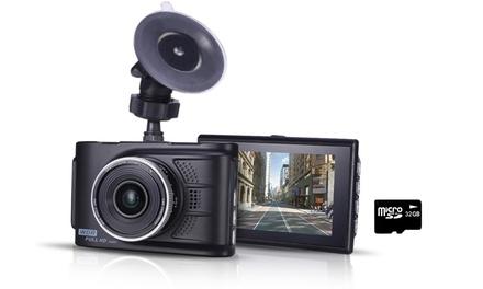1 o 2 Dashcam Full HD con accelerometro, visione notturna e Micro SD card da 32GB a scelta