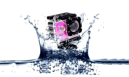 AdventurePro Water Resistant HD1080p Sports Camera with Optional 32GB SD Card