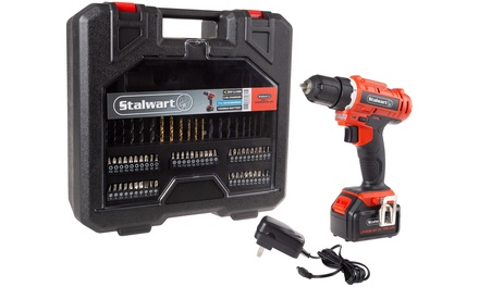 Stalwart 20V Lithium-Ion Cordless Drill Set (71- or 89-Piece)