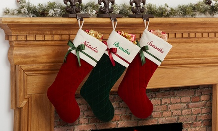 One Personalized Quilted Christmas Stocking from Personalization Mall (48% Off)