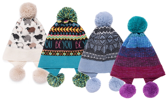 114e9204aac82 Muk Luks Women's Pom Hat | Groupon