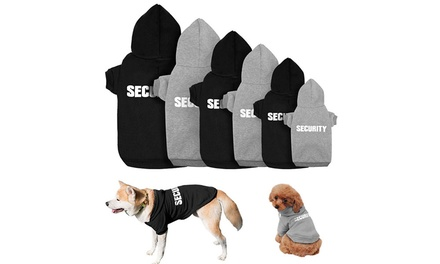 Hooded Sweatshirt for Pets with a Security Print in a Choice of Colour: XS $12, S $12.95, M $14 or L $15