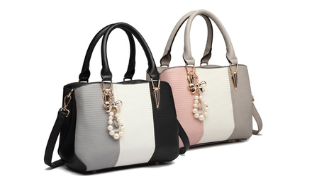 Miss Lulu Stripe Tote Handbag