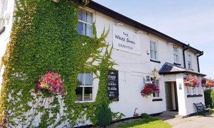 TwoCourse Meal and Glass of Wine for Two or Four at White Swan