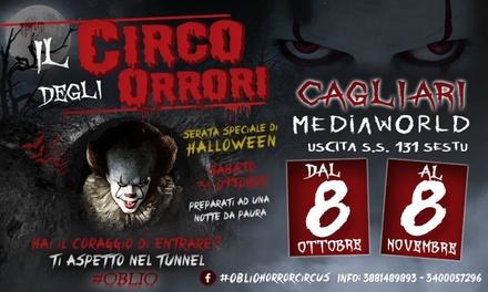 Oblio Horror Circus, Cagliari e Sassari a 11,50€euro