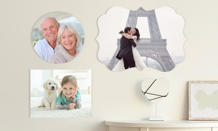 Personalized Shaped Metal Photo Prints from Picture it Custom (Up to 90% Off). Ten options available.