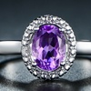 4.00 CTW Genuine Amethyst and Diamond Accent Ring by Peermont