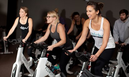Four <strong>Spinning</strong> Classes or Month of Unlimited <strong>Spinning</strong> Classes with T-Shirt at Flow Spin Studio (Up to 58% Off)