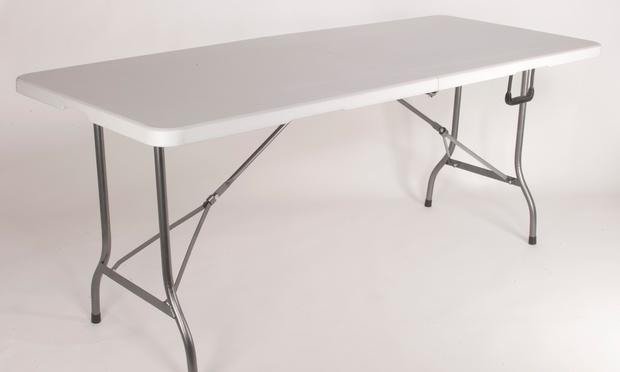 table pliante 180 cm groupon shopping. Black Bedroom Furniture Sets. Home Design Ideas