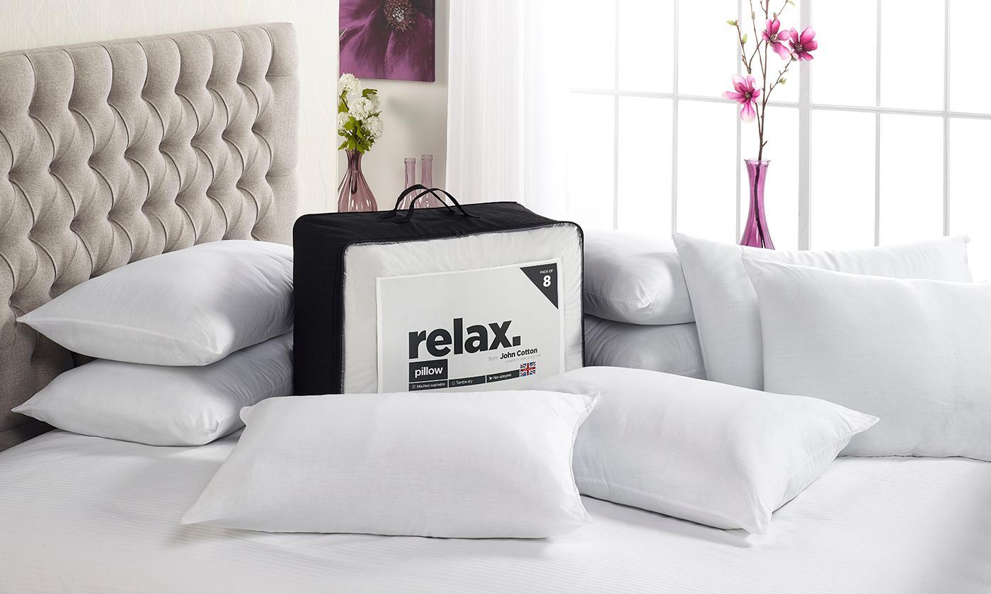 Eight Relax Cotton Pillows