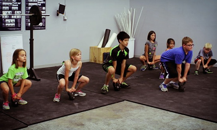 CrossFit Caveman - Stafford: One Week of CrossFit Summer Camp for One or Two Children July 15–19 at CrossFit Caveman (Up to 58% Off)