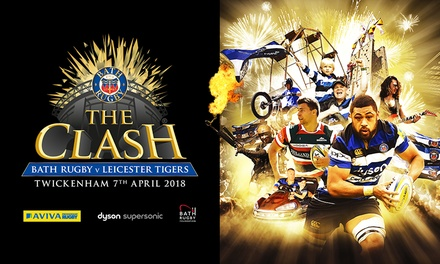 The Clash: Bath Rugby vs Leicester Tigers on 7 April at Twickenham Stadium