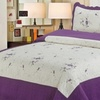 Laura's Lace Embroidered Quilt Set (3-Piece)