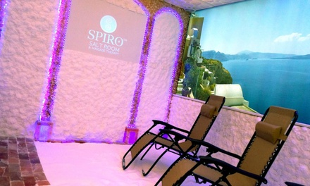 Salt cave session spiro salt room massage therapy for Livingsocial x room