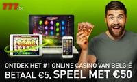 50€ ou 75€ pour jouer au casino en ligne sur 777.be à partir de 5€