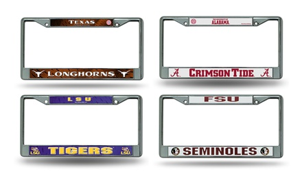 NCAA Chrome License Plate Frame