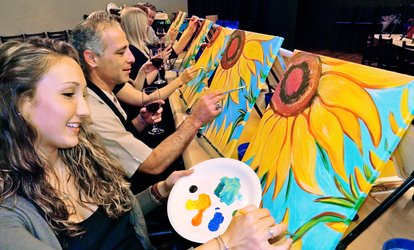 One or Two 3-Hour Painting <strong>Classes</strong> at Painting & Vino - San Diego (Up to 48% Off)