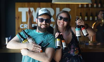 Visita y cata ilimitada de cerveza artesanal para 1 o 2 personas en Cerveza Tyris (hasta 33% de descuento)