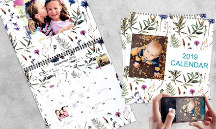 for a Personalised Portrait or DoublePage A4 or A3 Wall Calendar Don't Pay up to $124.75