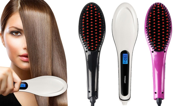 Panatech: $29 for a New 2016 Model Todo Anti-Static Hair Straightening Brush (Don't Pay $249)