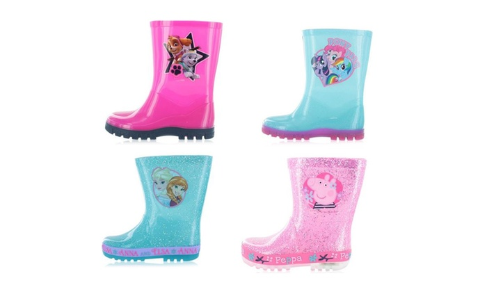 Girl's Mixed Character Wellies with