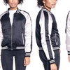 Women's Varsity Jacket with Contrast Sleeves (Size L)