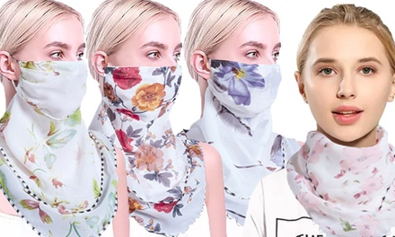 Women's Flower-Printed Lightweight Scarf/Mask: One ($9.95) or Two ($15)