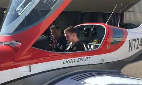 """$235 for Two-Hour """"Discovery Flight"""" Flying Lesson for One Person from Aviators Flight Academy($450 Value)"""