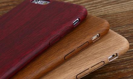 Schutzhülle in Holzdesign für dein iPhone in Kirschbaum, Walnussbaum oder Bambus-Design im Modell nach Wahl (Sie sparen: 87%)