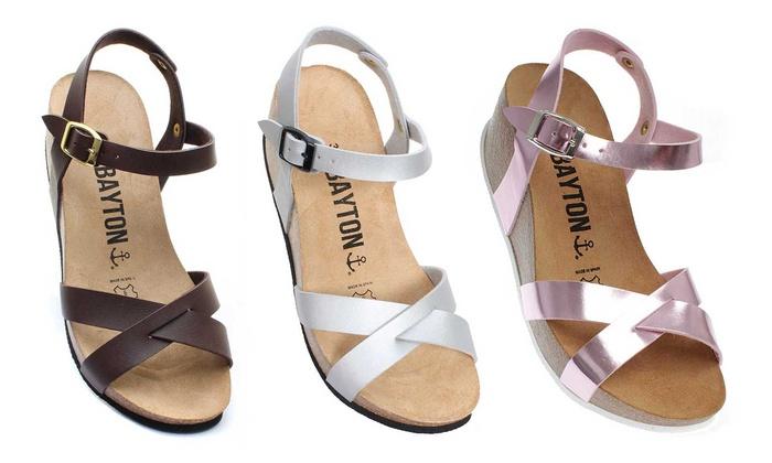 Sandales Compensées Pour BaytonGroupon Shopping Femme WHEI29D