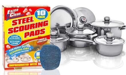 10, 20 of 30 schuursponsjes met zeep voor potten en pannen