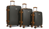 Groupon.com deals on 3-Piece Dejuno Legion Expandable Hardside Spinner Luggage Set