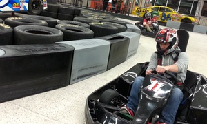 Extreme Grand Prix Indoor Family Fun Center: Go-Kart or Bounce House at Extreme Grand Prix Indoor Family Fun Center (Up to 41% Off). Three Options Available.