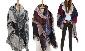 Vincenza Women's Oversized Blanket Scarf