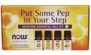 Now Foods Solutions Uplifting Essential Oils Kit (4-Piece)