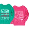Women's Holiday Drinking Slouchy Pullover