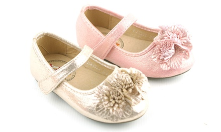 Girl's 3D Flower Ballet Pumps in Choice of Colours and Sizes for £5.99