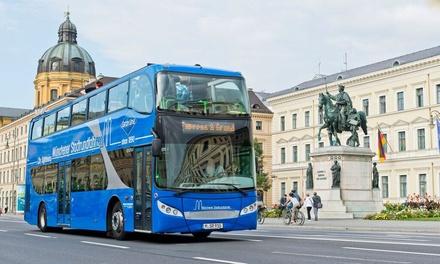 Große Hop On Hop Off Stadtrundfahrt durch München für 1, 2 oder 4 Pers. bei SIGHTseeing Gray Line (bis zu 56% sparen*)