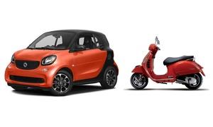 FRANK AUTONOLEGGIO: Uno o 3 giorni di noleggio Vespa o Smart forTwodaFrank Autonoleggio (sconto fino a 75%)