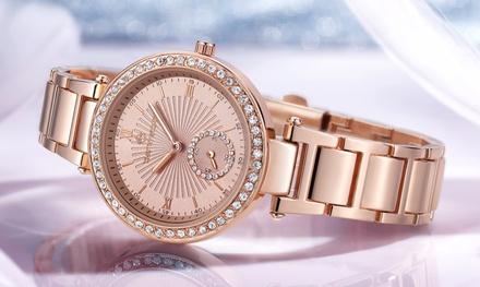 Montre, ornées de cristaux Swarovski®, de la marque Timothy Stone collection Elle, livraison offerte