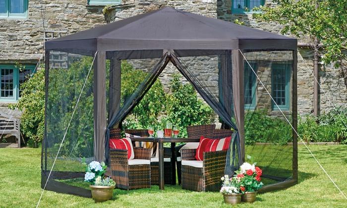 Tonnelle de jardin hexagone groupon for Groupon giardino