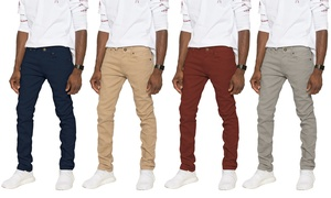 Men's Skinny-Fit Stretch Twill Pants