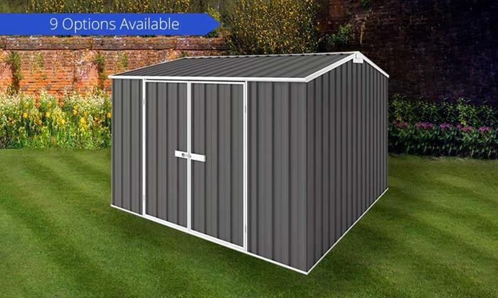 Easyshed garden storage shed groupon goods for Best deals on garden sheds