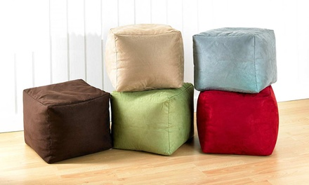 Faux Suede Bean Bag Cube