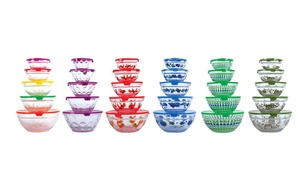 Snack-Sized Printed Glass Bowl Sets with Clip Lids (5-Piece) at Snack-Sized Printed Glass Bowl Sets with Clip Lids (5-Piece), plus 9.0% Cash Back from Ebates.