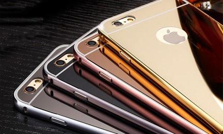Metall-Spiegel-Case mit Bumper für iPhone oder Samsung Galaxy im Modell und der Farbe nach Wahl (84% sparen*)
