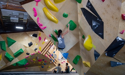 One-Day or One-Week Pass with Gear and Introduction to Bouldering at Grotto Climbing & Yoga (Up to 40% Off)