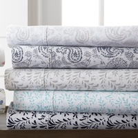 Merit Linens Floral & Paisley Printed Bed Sheet Set 4-Pc