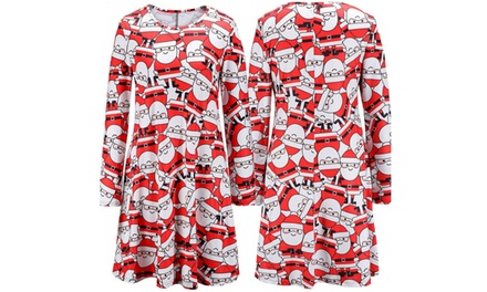 Santa Print Swing Dress for £7.99